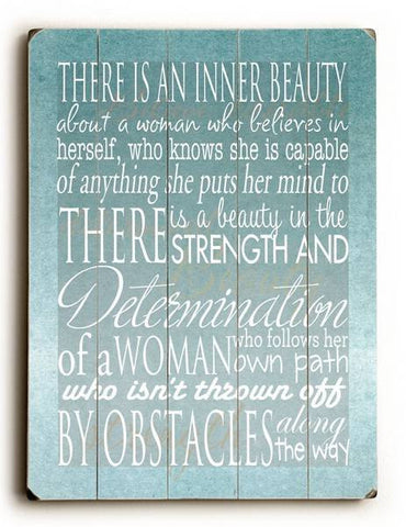 An inner beauty Wood Sign 9x12 (23cm x 31cm) Solid