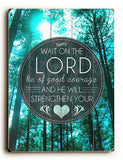 Wait on the Lord Wood Sign 9x12 (23cm x 31cm) Solid