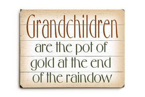 Grandchildren are Wood Sign 9x12 (23cm x 31cm) Solid