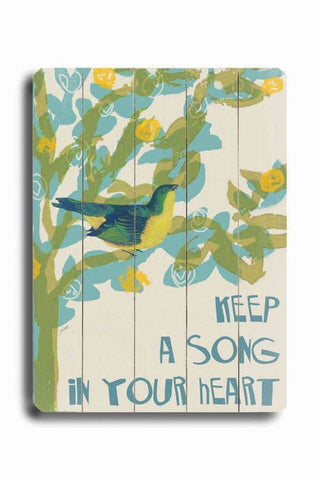 SONG IN YOUR HEART Wood Sign 14x20 (36cm x 51cm) Planked
