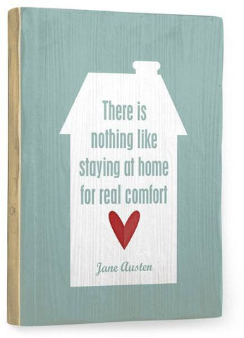 Nothing like staying home Wood Sign 25x34 (64cm x 87cm) Planked