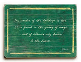 0003-0951-Wonder of the Holidays Wood Sign 12x16 Planked
