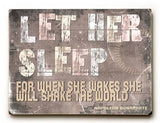 Let her sleep Wood Sign 25x34 (64cm x 87cm) Planked