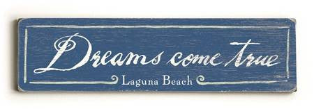 0002-8199-Dreams come True Wood Sign 6x22 (16cm x56cm) Solid