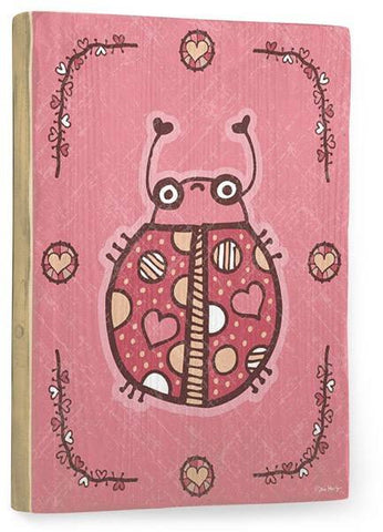 Love Bug Wood Sign 14x20 (36cm x 51cm) Planked