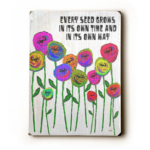 Every Seed Grows Wood Sign 12x16 Planked