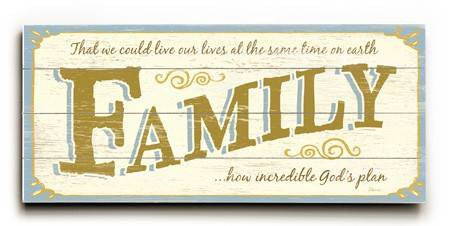 0003-1337-Family Wood Sign 10x24 (26cm x61cm) Planked