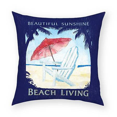Beach Living Pillow 18x18