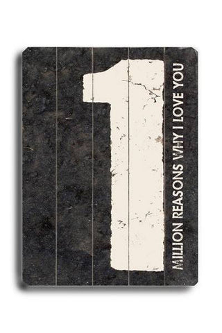 Million Reasons Why (Beige)-COPY Wood Sign 25x34 (64cm x 87cm) Planked