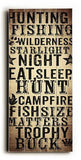 Hunting Fishing Wood Sign 10x24 (26cm x61cm) Planked