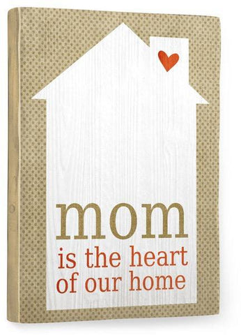 Mom Wood Sign 9x12 (23cm x 31cm) Solid