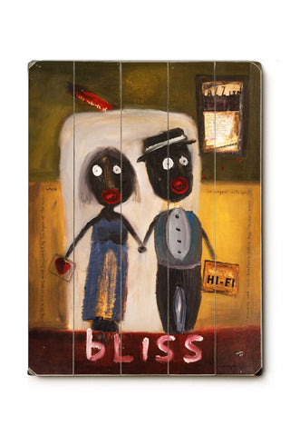Bliss Wood Sign 14x20 (36cm x 51cm) Planked