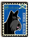 Scottish Terrier Postage Stamp Wood Sign 25x34 (64cm x 87cm) Planked