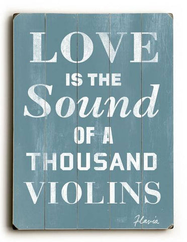 Love is the Sound Wood Sign 25x34 (64cm x 87cm) Planked