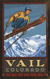 Skier in Air Wood Sign 12x16 Planked
