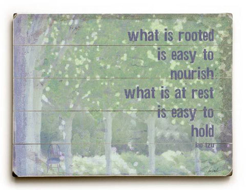 What is Rooted Wood Sign 9x12 (23cm x 31cm) Solid