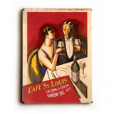 Cafe St. Louis Wood Sign 14x20 (36cm x 51cm) Planked