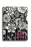 Feelin' Groovy Wood Sign 14x20 (36cm x 51cm) Planked
