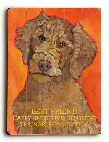 Best Friend Wood Sign 9x12 (23cm x 31cm) Solid