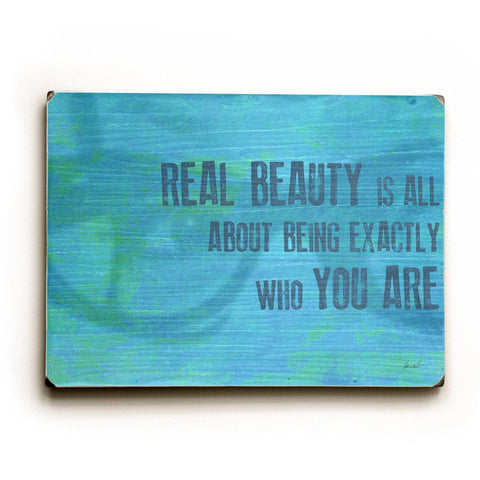 Real Beauty Wood Sign 14x20 (36cm x 51cm) Planked