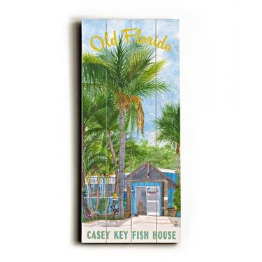 Old Florida Wood Sign 10x24 (26cm x61cm) Planked