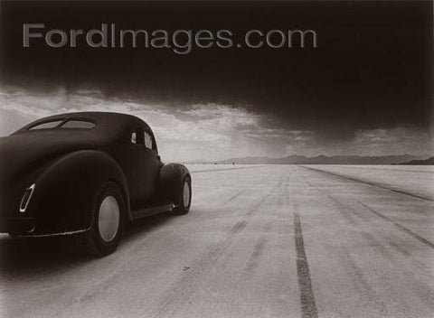 40 Coupe Salt Flat Racer Poster Wood Sign 18x24 (46cm x 61cm) Planked