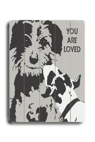 You are loved Wood Sign 18x24 (46cm x 61cm) Planked