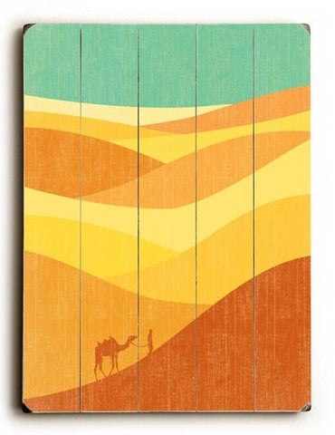 Desert Journey Wood Sign 9x12 (23cm x 31cm) Solid