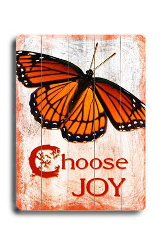 Choose Joy Wood Sign 18x24 (46cm x 61cm) Planked
