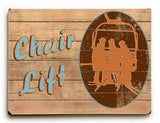 Chair Lift Wood Sign 25x34 (64cm x 87cm) Planked