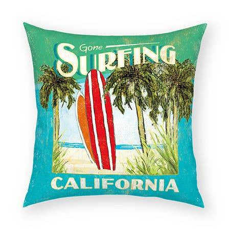 Gone Surfing Pillow 18x18