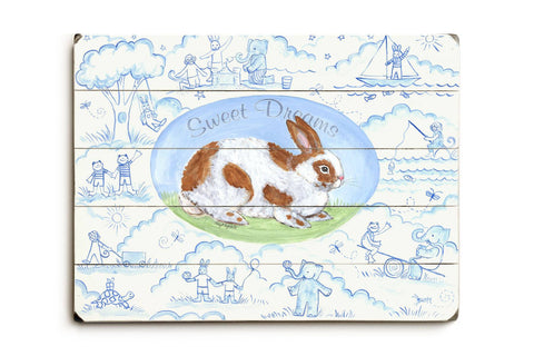 Sweet dreams / bunny Wood Sign 14x20 (36cm x 51cm) Planked