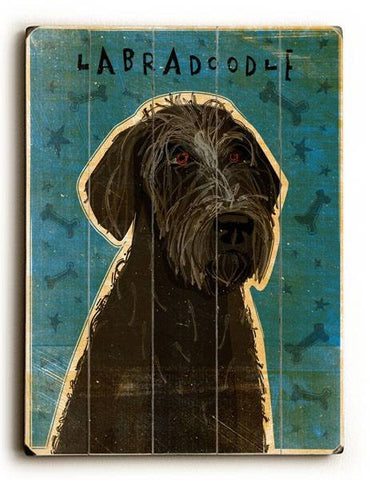 Labradoodle Wood Sign 25x34 (64cm x 87cm) Planked