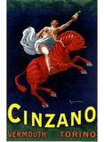 Leonetto Cappiello Cinzano Vermouth Torino Poster Wood Sign 18x24 (46cm x 61cm) Planked