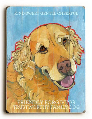 Friendly Forgiving Wood Sign 12x16 Planked