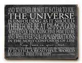 Universal Wood Sign 9x12 (23cm x 31cm) Solid