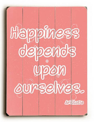 Happiness Wood Sign 12x16 Planked