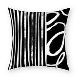 Stripes and Vine Pillow 18x18