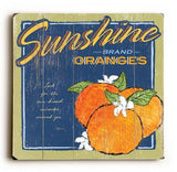 0002-8221-Sunshine Oranges Wood Sign 13x13 Planked
