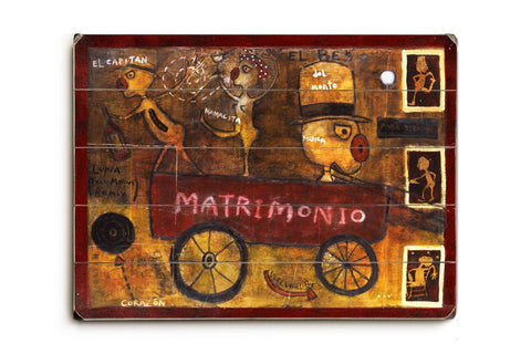 Matrimonio Wood Sign 18x24 (46cm x 61cm) Planked