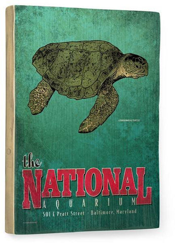 National Aquarium Wood Sign 12x16 Planked
