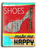 Shoes Wood Sign 14x20 (36cm x 51cm) Planked