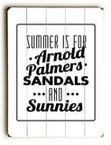 Arnold Palmers Wood Sign 25x34 (64cm x 87cm) Planked