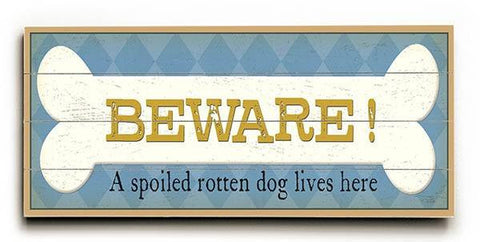 Beware Wood Sign 10x24 (26cm x61cm) Planked
