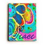 Peace Wood Sign 18x24 (46cm x 61cm) Planked