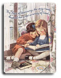 Reading Together Wood Sign 14x20 (36cm x 51cm) Planked