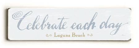 0002-8195-Celebrate Each Day Wood Sign 6x22 (16cm x56cm) Solid