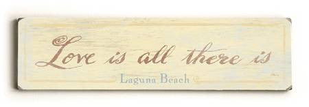 0002-8213-Love is all There is Wood Sign 6x22 (16cm x56cm) Solid
