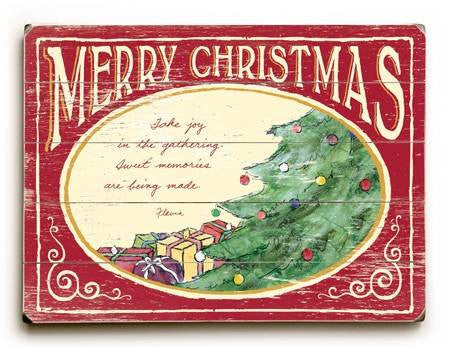 0003-0949-Merry Christmas Wood Sign 9x12 (23cm x 31cm) Solid