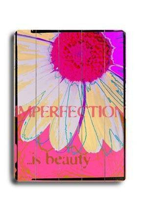 Imperfection is beauty Wood Sign 18x24 (46cm x 61cm) Planked